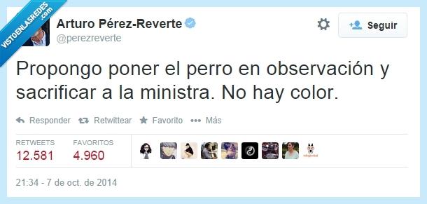 Ana Mato,Ébola,excalibur,Ministra,Pérez Reverte,perro,Zas