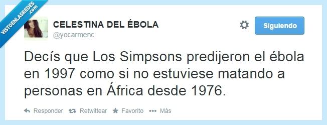 africa,año,ebola,gente,los simpsons,matar,predecir,profecia,tontos