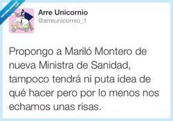 Enlace a Mi preferida para nueva ministra de sanidad por @arreunicornio_1