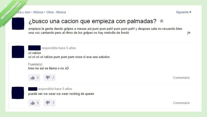 canción,estupidez,queen,we will rock you,yahoo respuestas