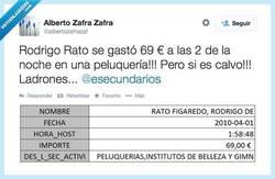 Enlace a Rodrigo Rato o como un calvo se gasta dinero en una peluquería, por @albertozafrazaf