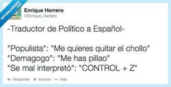 Enlace a Traductor de político a español por @enrique_herrero