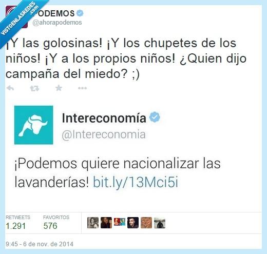 colegio,Intereconomía,lavanderias,nacionalizar,niños,Podemos,PP
