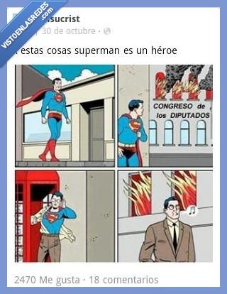 congreso,disimular,favorito,heroe,politico,salvacion,salvar,superheroe,superman