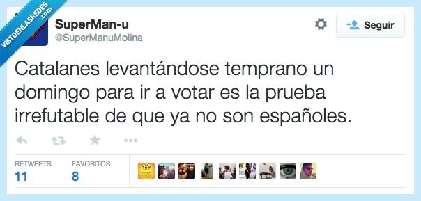 9n,catalanes,cataluña,domingo,españa,independecia,temprano,votar