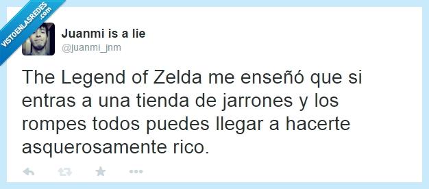 dentro,dinero,game,jarron,la leyenda de zelda,link,rico,the legend of zelda,tloz,zelda