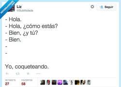 Enlace a Así se coquetea... Para siempre estar soltero, claro por @SubtituIada