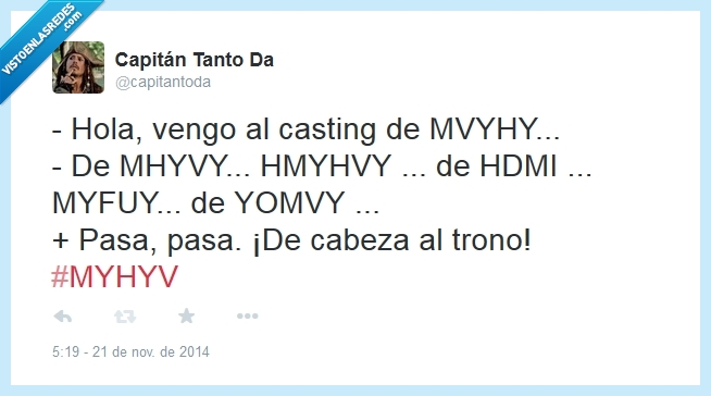 Casting,HDMI,Mediaset,MYHYV,siglas,Telecinco,tonto,Trono,TV,Yomvi