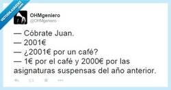 Enlace a Qué café más caro por @OHMgeniero