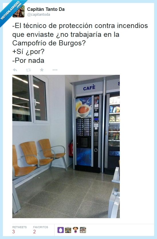 Burgos,café,Campofrío,extintor,fuego,incendio,máquina,técnico