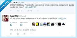 Enlace a Risas y mas risas, así va España por @el_pais y @Auron0