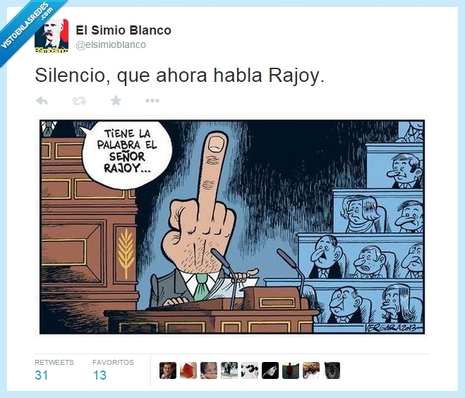 dedo,ElSimioBlanco,peineta,silencio que ahora habla Rajoy