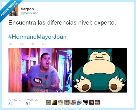 Comparaciones,Gordo,Hermanomayor,Joan,Obesidad,Pokemon,Snorlax