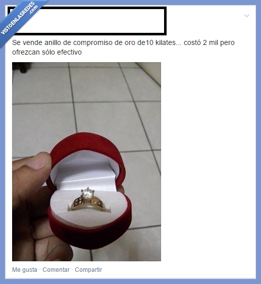 anillo,cuando te dicen no,la vida sigue,matrimonio,pedida,rechazado,soltero de por vida,sortija,vender
