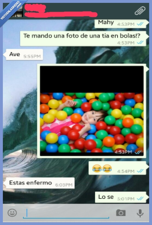 chica,enfermo,movil,pelotas,piscina,real,whatsapp