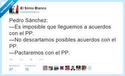 Enlace a Pedro Sánchez que sí, que no, que nunca te decides por @ElSimioBlanco