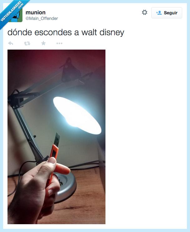 amenazar,congelado,donde,esconder,flexo,lampara,lamparita,Pixar,Walt Disney