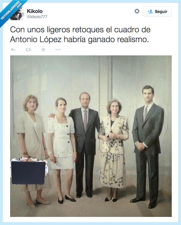 20,años,billetes,borbon,cambiar,cuadro,después,dinero,familia,Infanta Cristina,maletin,modificar,noos,real,realista