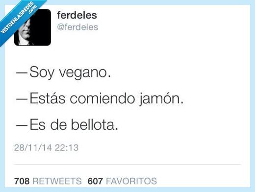 bellota,jamon,vegano,vegetariano
