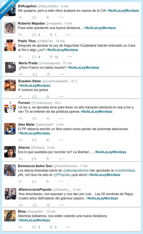 dictadura,franquismo,ley mordaza,PP,prohibido protestar,Rajoy,verguenza