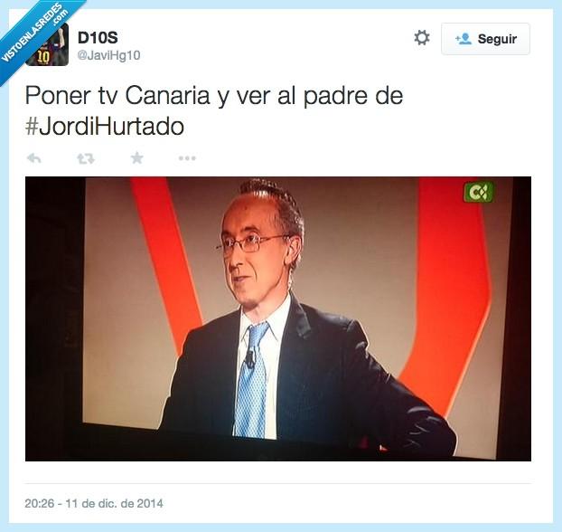 clavado,igual,Jordi Hurtado,padre,parecido,señor,TV canaria