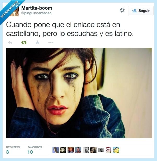 castellano,doblaje,enlace,lagrimas,latino,llanto,llorar,maquillaje,negro,película,serie
