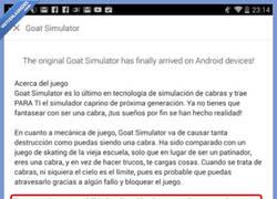 Enlace a Goat simulator, el único juego que pide que no lo descargues