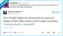 Enlace a Vaya una tienen liada @ahorapodemos y @esperanzaguirre