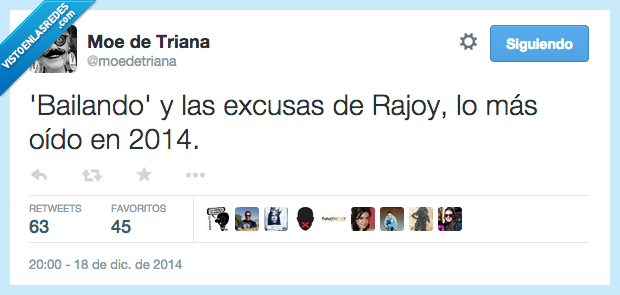 2014,Bailando,Enrique Iglesias,excusas,más oído,Rajoy