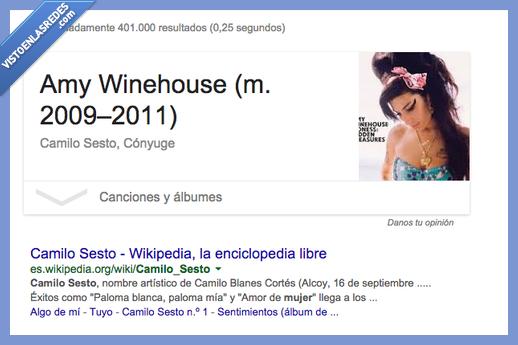 Amy Winehouse,Camilo Sesto,conyuge,esposa,google,mujer,novia