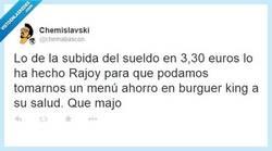 Enlace a Rajoy y su menú ahorro, ¡a disfrutar! por @chemabascon