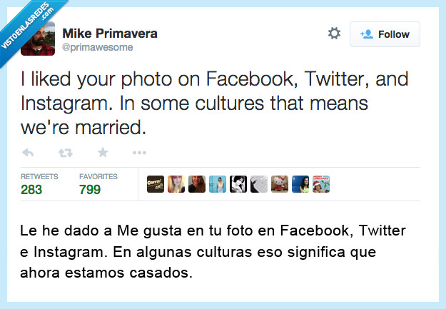 casados,facebook,instagram,like,matrimonio,me gusta,twitter
