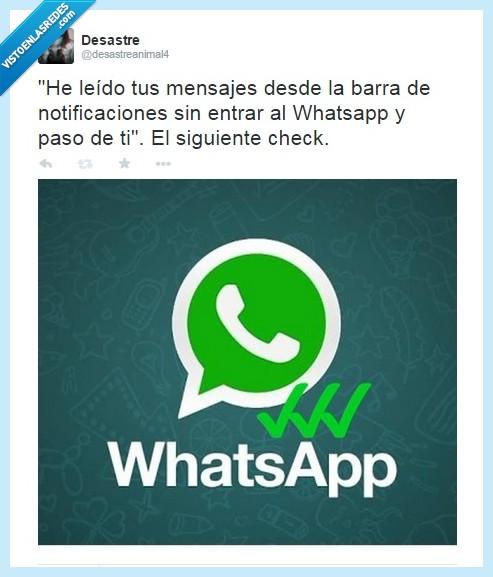 barra,check,doble check,ignorar,mensaje,mirar,twitter,whatsapp