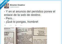 Enlace a ¿No se puede clickar en el periódico? por @direcreativo