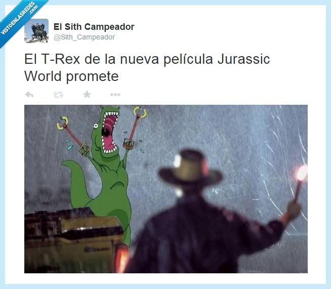 dinosaurio,jurassic world,miedo,pelicula,t-rex