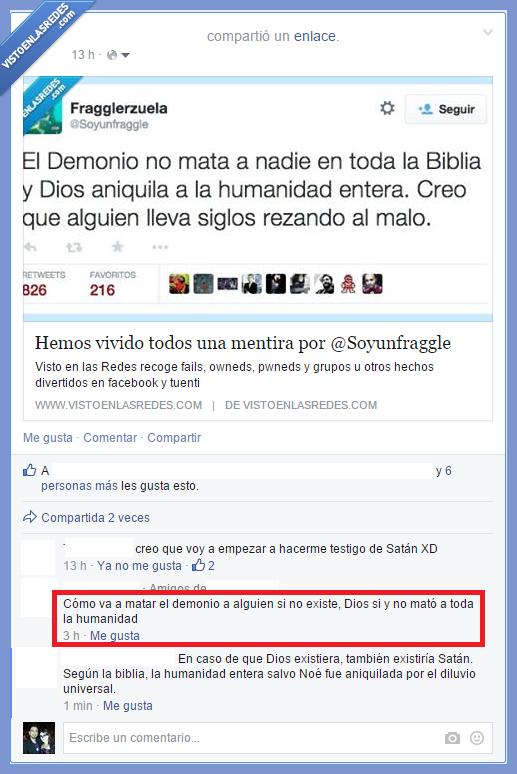 ateo,creer,creyente,demonio,diablo,Dios,existio,existir,tontería