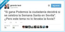 Enlace a La lluvia la provoca Podemos, por @gerardotc