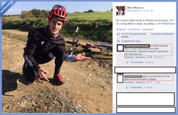 Enlace a Marc Màrquez parece que no tiene muchos amigos en Facebook...