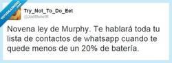 Enlace a Ley desconocida nueva de Murphy por @joelbonetr