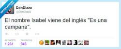 Enlace a El origen etimológico de Isabel por @DonDiaza