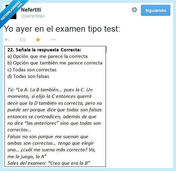 confusión,contestar,error,examen,respuesta,test