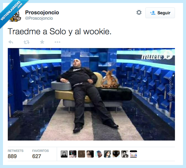 chewbacca,GHVIP,gran hermano,jabba,Kiko rivera,paquirrin,solo,the hut,wookie