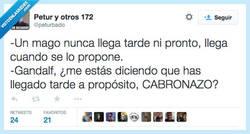 Enlace a ¡¿Cómo puedes tener tanto morro, Gandalf?! por @peturbado