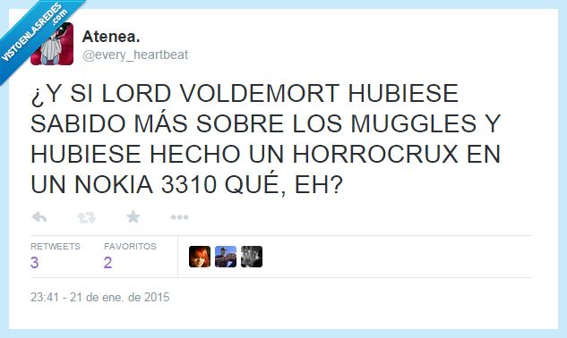 AVADA KEDAVRA D:,Harry Potter,Horrocrux,ladrillo,Lord Voldemort,muggles,nokia,nokia 3310,Potter,Voldemort