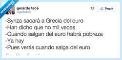 Enlace a ¿Grecia sale del euro? por @gerardotc