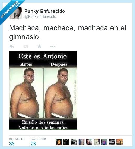 antes,Antonio,después,gafas,gimnasio,gordo,perder