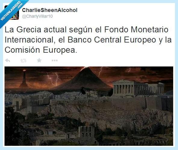 Comisión Europea,El Señor de los Anillos,FMI,Fondo Monetario Internaciona,Grecia,Mordor,Sauron,Syriza
