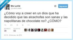 Enlace a No es mi Dios, eso seguro por @LolaOLolailo