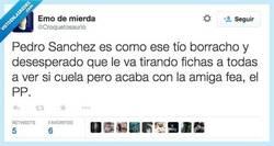 Enlace a Pedro Sánchez, el tirafichas por @Croquetosaurio