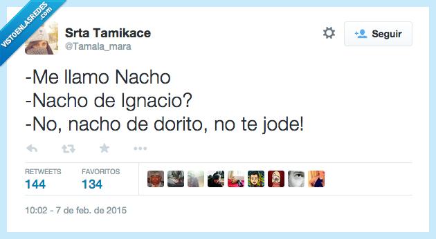 dorito,Ignacio,nacho,nombre